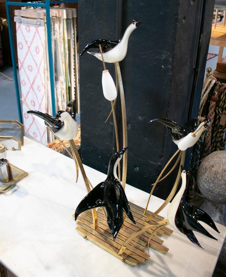 Bronze Lucio Zanetti Italian Venetian Murano Glass Figure Sculpture of Goose For Sale