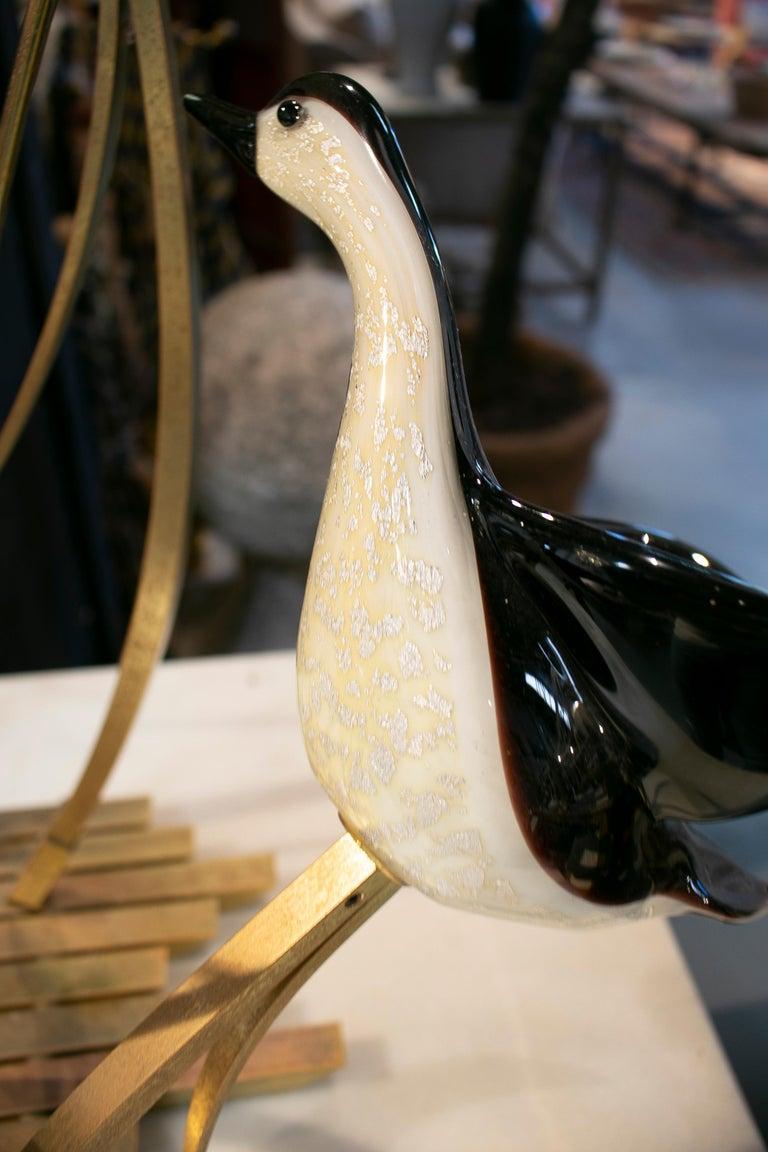 Lucio Zanetti Italian Venetian Murano Glass Figure Sculpture of Goose For Sale 3