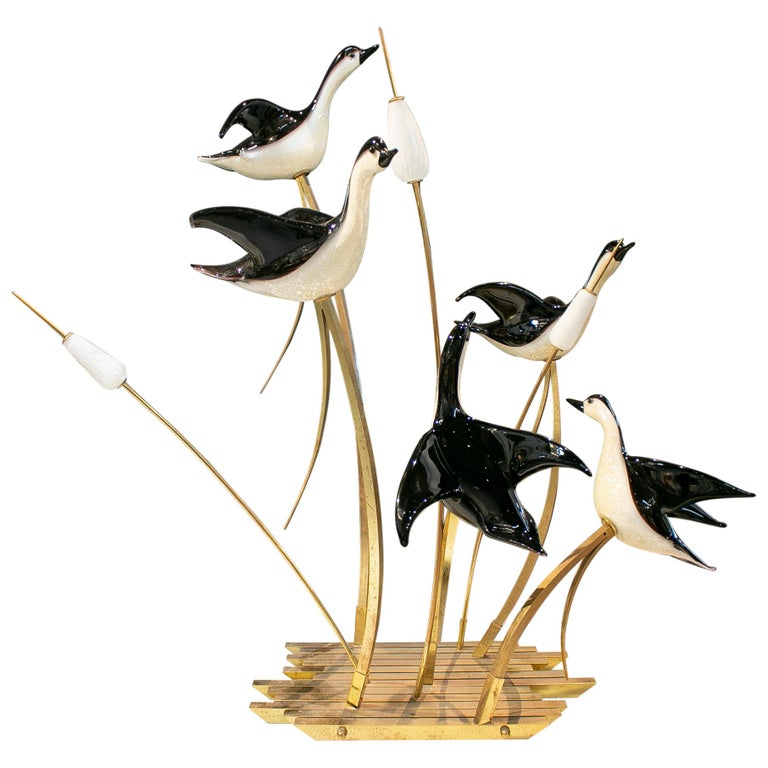 Lucio Zanetti Italian Venetian Murano Glass Figure Sculpture of Goose For Sale