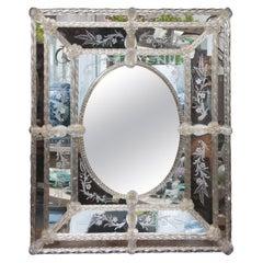 Italian Venetian Murano Glass Mirror