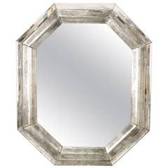Italian Venetian Murano Octagonal Shaped Wall Mirror