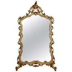Italian Venetian Neo-Rococo Mirror, Rarity