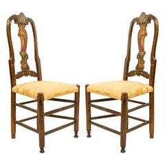 Italian Venetian Painted Side Chairs