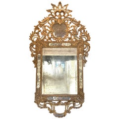 Italian Venetian Style Carved and Giltwood Mirror