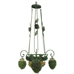 Italian Venetian Three-Arm Chandelier