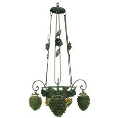 Italian Venetian Grape and Flower Chandelier