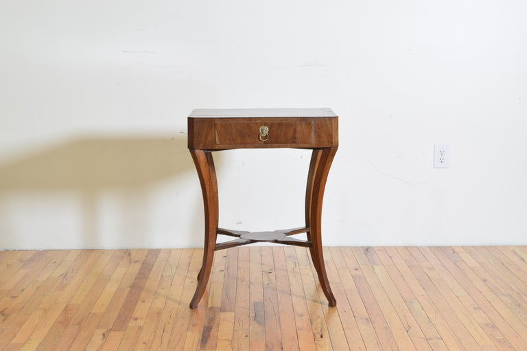 Italian, Veneto Region, Neoclassical Mahogany Two Drawer Table In Good Condition For Sale In Atlanta, GA