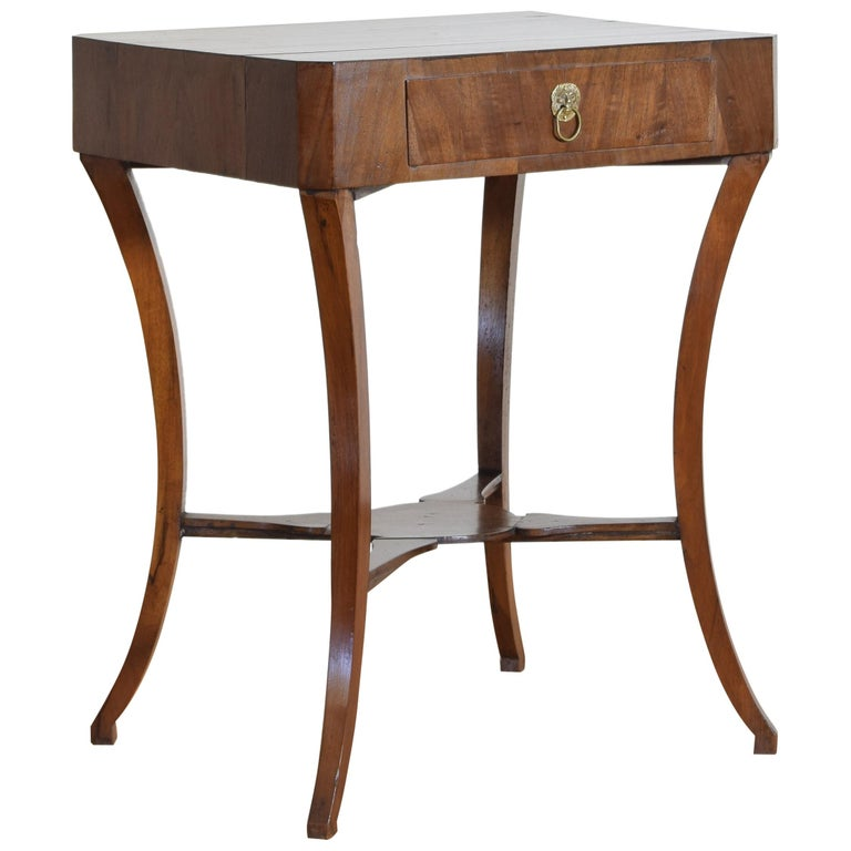 Italian, Veneto Region, Neoclassical Mahogany Two Drawer Table For Sale