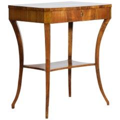 Italian, Veneto, Walnut Neoclassical Period One Drawer Side Table, circa 1830