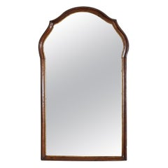 Italian, Venezia, Queen Anne Period Walnut and Giltwood Mirror, 18th Century