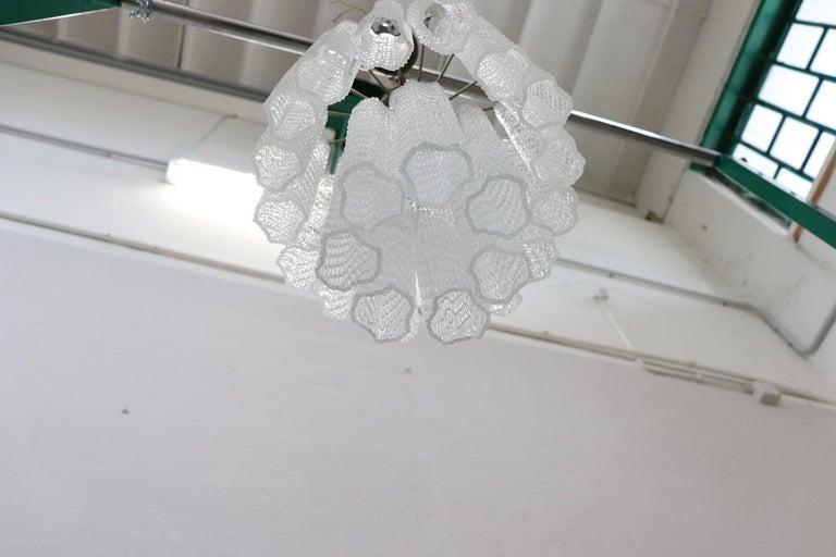 Mid-20th Century Italian Venini Murano Glass Chandelier, 1960s For Sale