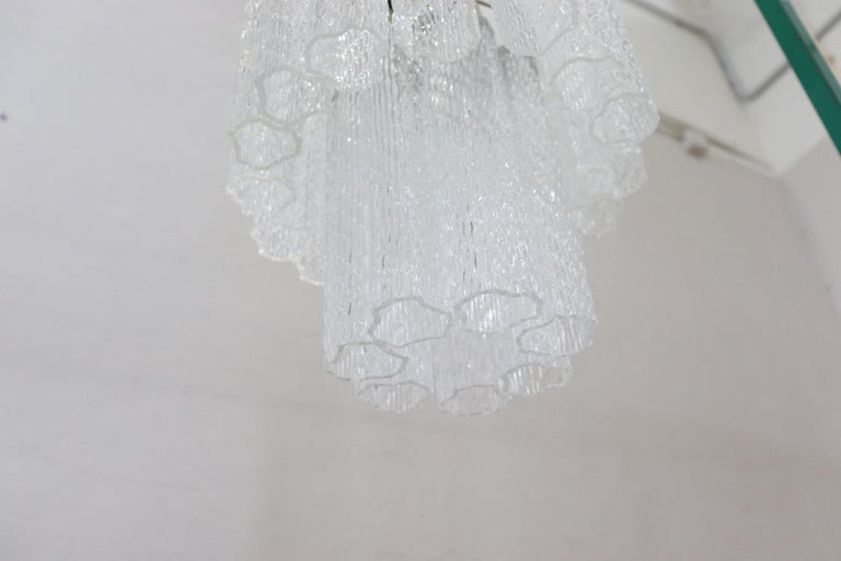 Italian Venini Murano Glass Chandelier, 1960s For Sale 2