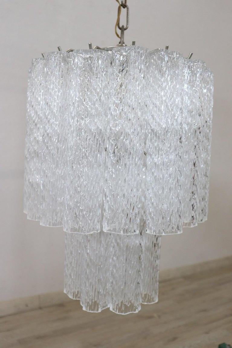 Italian Venini Murano Glass Chandelier, 1960s For Sale 3