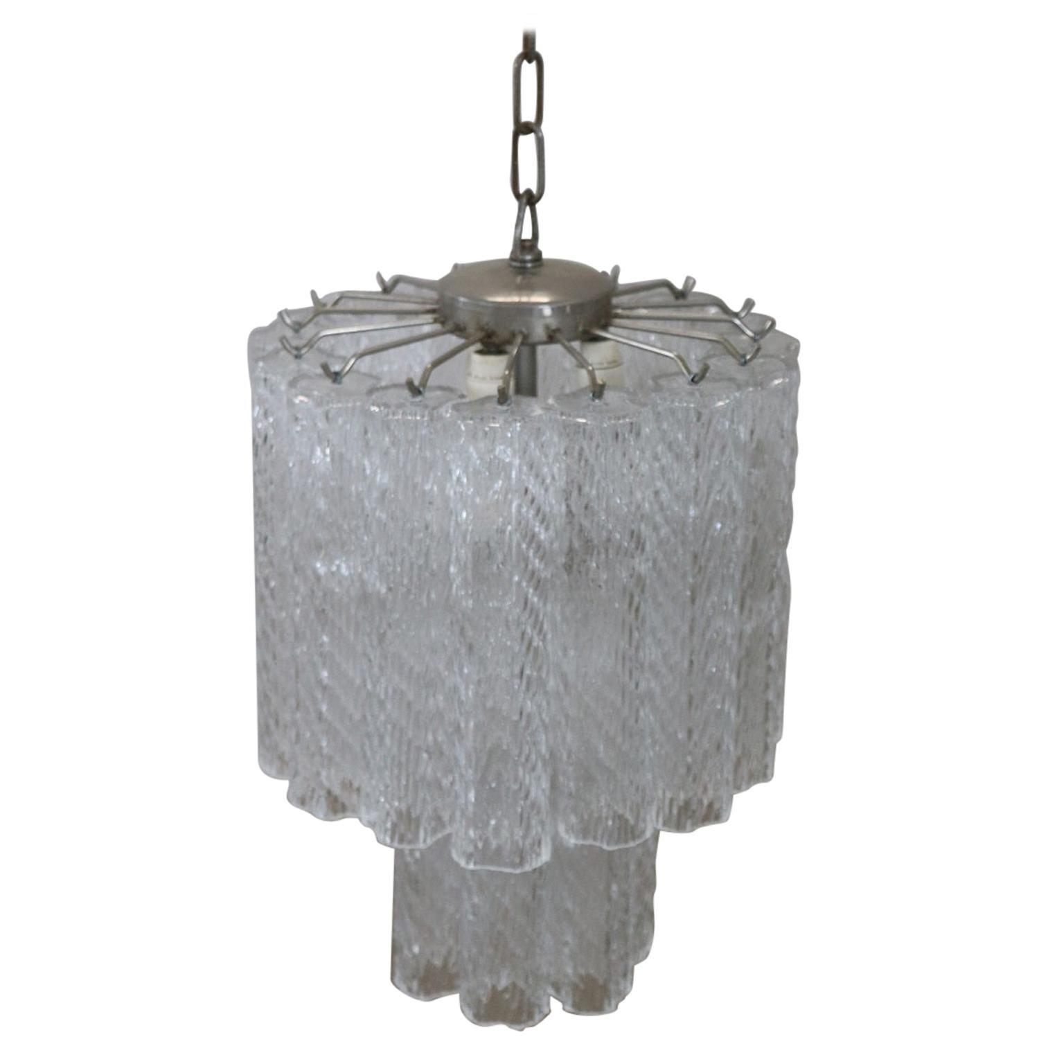 Italian Venini Murano Glass Chandelier, 1960s