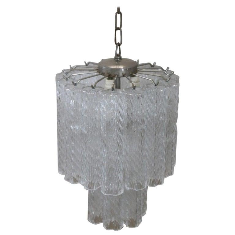 Italian Venini Murano Glass Chandelier, 1960s For Sale