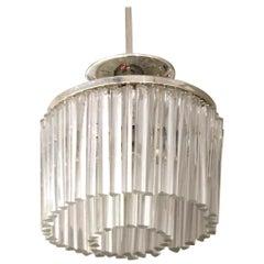 Italian Venini Style Mid-Century Modern Diminutive Pendant Light