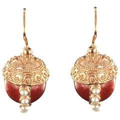 Italian Vermeil Balls Lever-Back Earrings