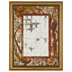 Italian Verre Églomisé Mirror