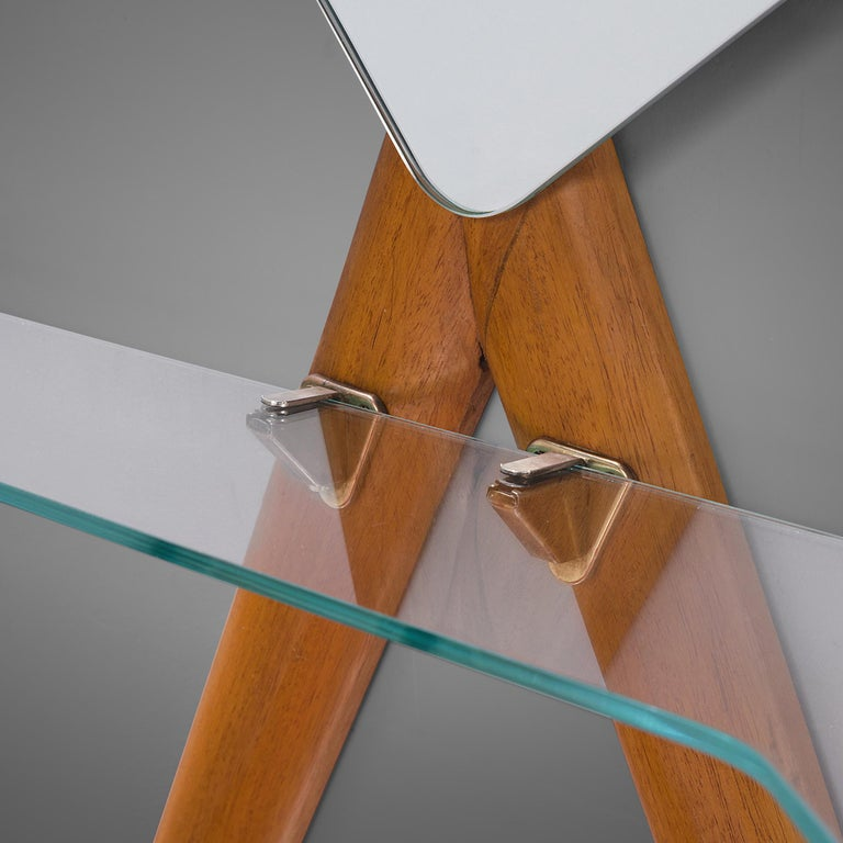 Italian Vestibule Set with Settee and Mirror In Good Condition In Waalwijk, NL