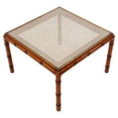 Italian Vienna Straw Coffee Table, 1970s