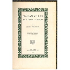 Italian Villas and Their Gardens, Book by Edith Wharton