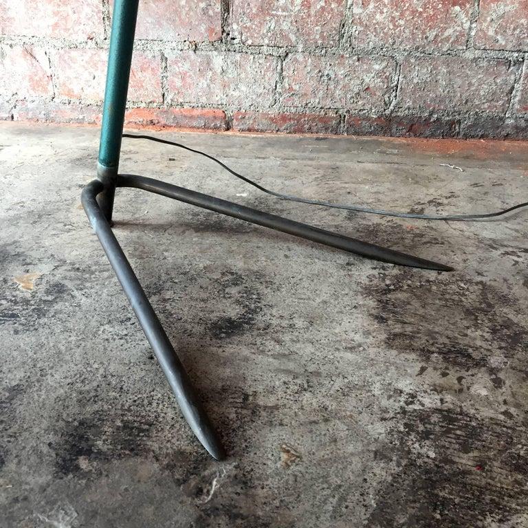 Mid-Century Modern Italian Vintage Adjustable One-Arm Floor Lamp, 1950s For Sale