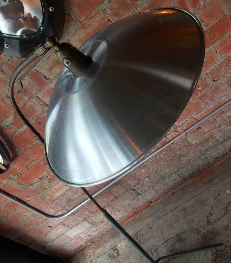 Italian Vintage Adjustable One-Arm Floor Lamp, 1950s For Sale 2
