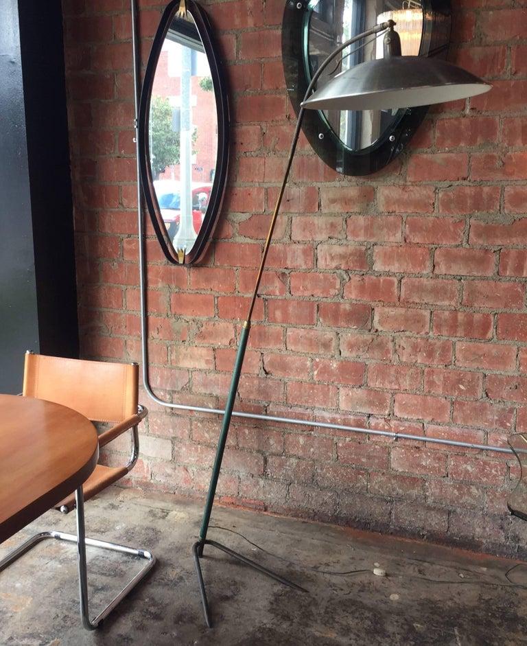 Italian Vintage Adjustable One-Arm Floor Lamp, 1950s For Sale 3