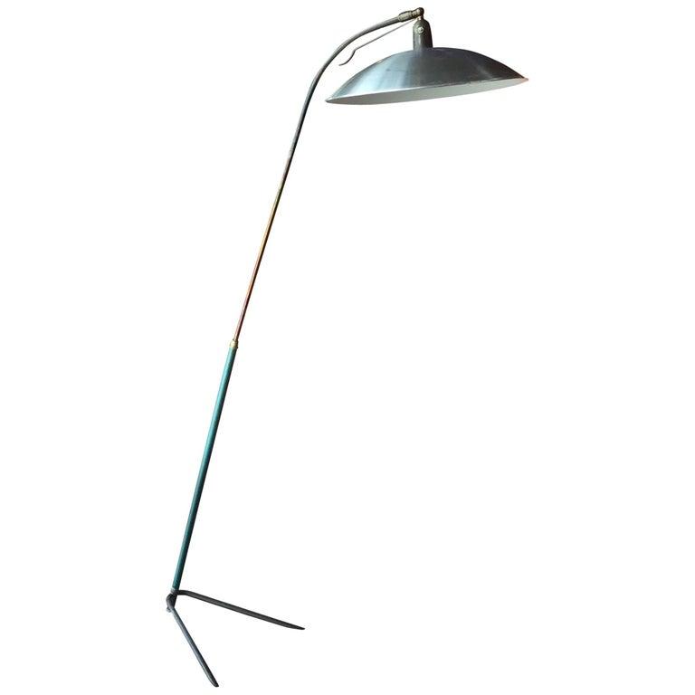 Italian Vintage Adjustable One-Arm Floor Lamp, 1950s For Sale