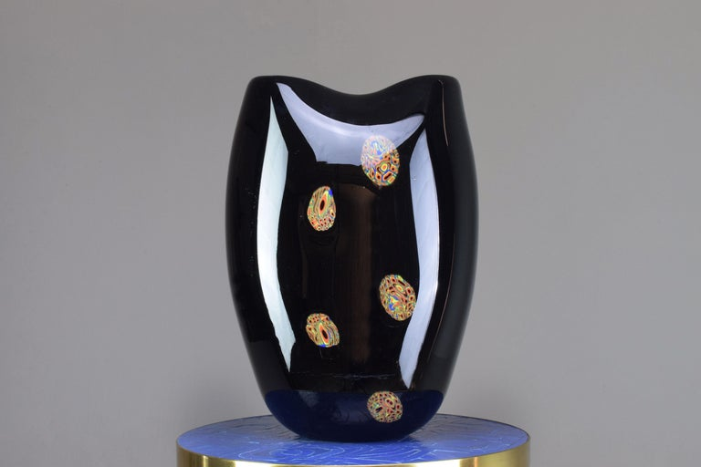 Italian Vintage Art Glass Vase, 1970s In Good Condition For Sale In Paris, FR
