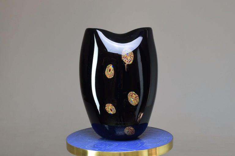 Murano Glass Italian Vintage Art Glass Vase, 1970s For Sale