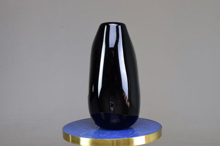 Italian Vintage Art Glass Vase, 1970s For Sale 2