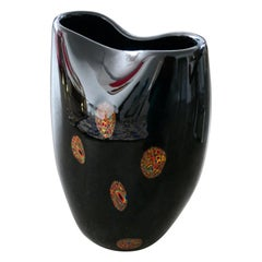 Italian Vintage Art Glass Vase, 1970s
