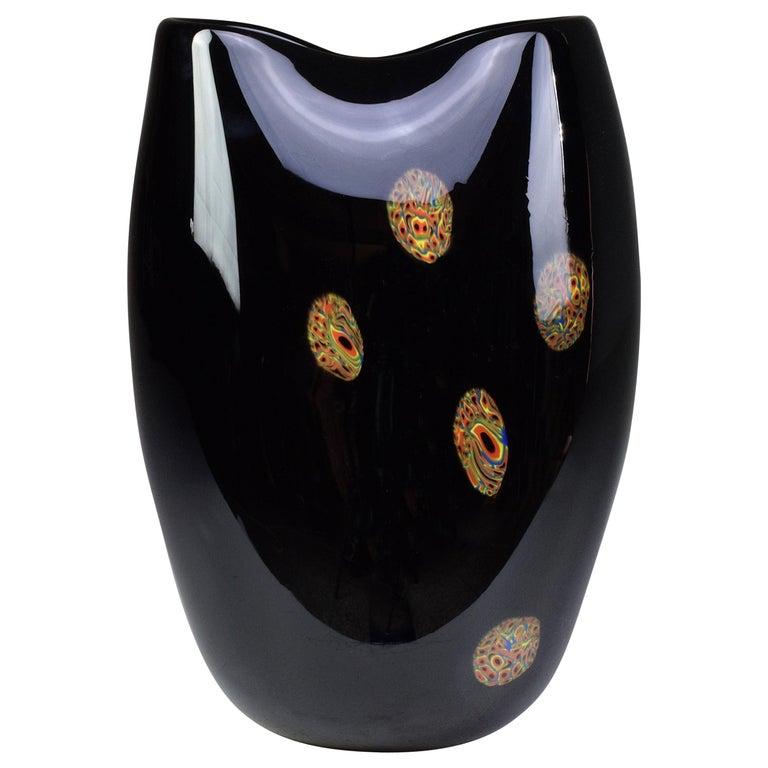 Italian Vintage Art Glass Vase, 1970s For Sale
