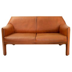 Italian Vintage Cab 415 Sofa by Mario Bellini for Cassina, 1980s