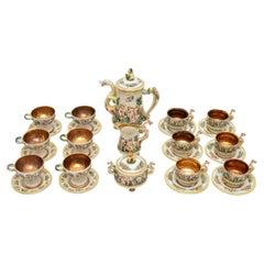 Italian Vintage China Tea Set, De Biagi RS Marino
