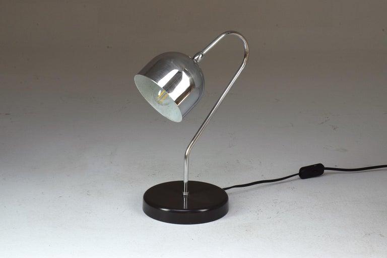Mid-Century Modern Italian Vintage Chrome Lamp, 1960s For Sale