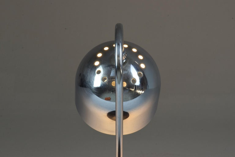 Italian Vintage Chrome Lamp, 1960s In Good Condition For Sale In Paris, FR
