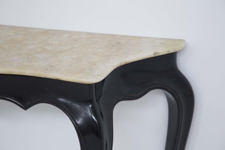 Mid-20th Century Italian Vintage Console in Marble and Wood by Carlo Enrico Rava For Sale