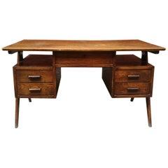 Italian Vintage Desk and Asymmetrical V-Shaped Paw, 1960s