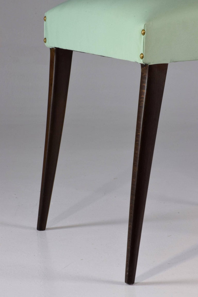 Italian Vintage Dining Chairs Attributed to Guglielmo Ulrich, Set of Six, 1940s For Sale 7