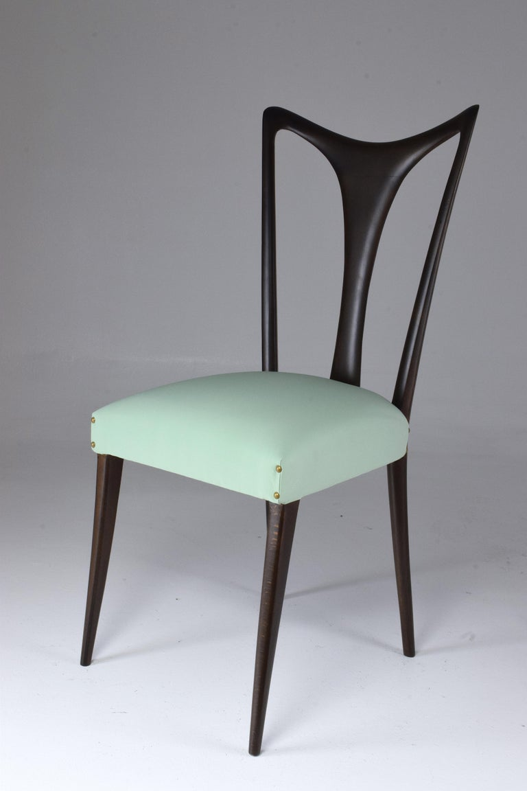 Italian Vintage Dining Chairs Attributed to Guglielmo Ulrich, Set of Six, 1940s For Sale 13