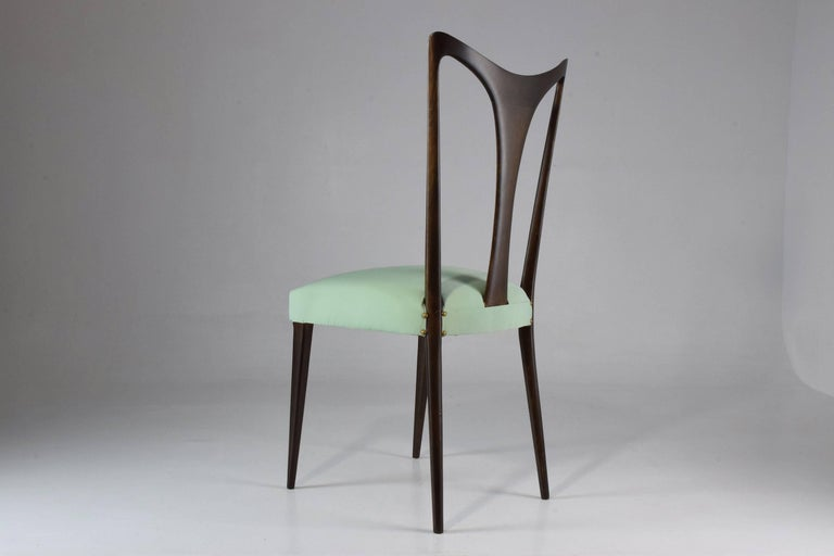 20th Century Italian Vintage Dining Chairs Attributed to Guglielmo Ulrich, Set of Six, 1940s For Sale