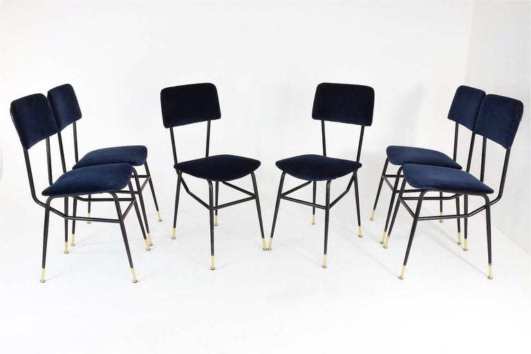 Italian Vintage Mid-Century Dining Chairs by Studio BBPR, 1950's, Set of 6  4