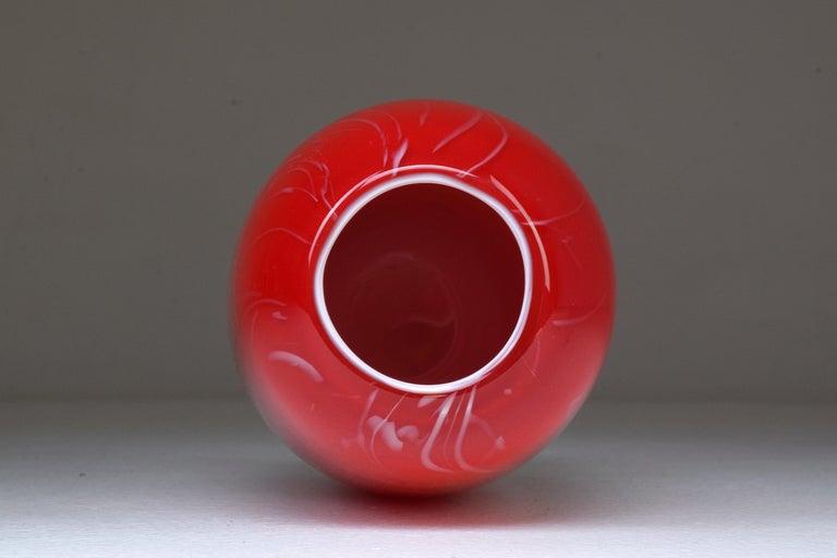 Murano Glass Italian Vintage Murano Art Glass Vase, 1960s For Sale