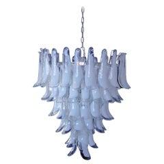 Italian vintage Murano chandelier in the manner of Mazzega - 75 glass petals