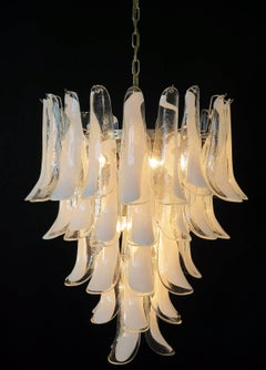 Italian Vintage Murano Chandelier Made by 52 Glass Petals, 1970s