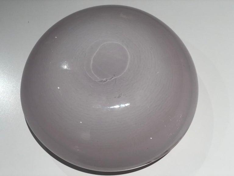 Italian Vintage Murano Glass Bowl Attributed to Seguso Vetri d'Arte, 1950s For Sale 10