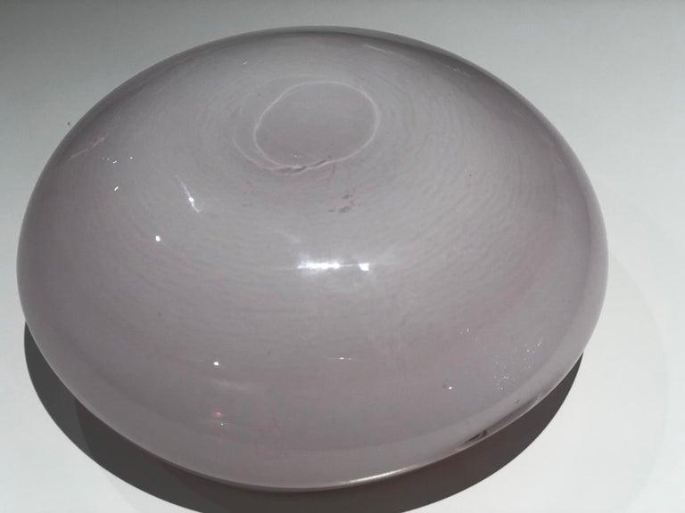 Italian Vintage Murano Glass Bowl Attributed to Seguso Vetri d'Arte, 1950s For Sale 11