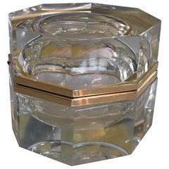 Italian Vintage Murano Glass Octagon Box
